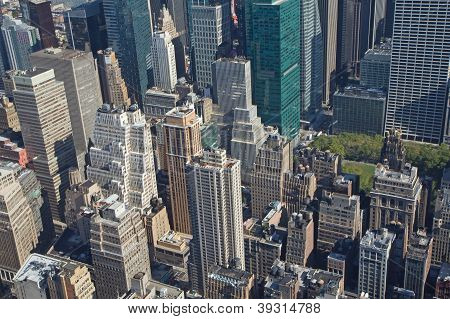Aerial View Of Manhattan With Bryant Park