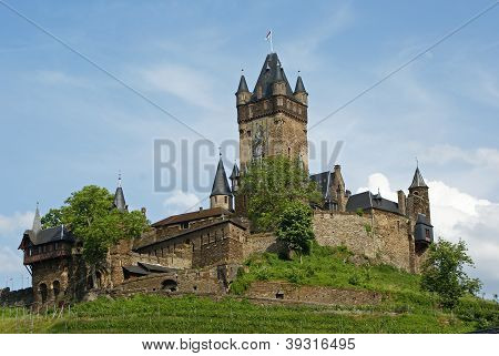 Cochem Castle, Mosel River, Germany, Europe