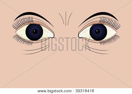 Olhos cansados