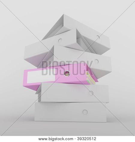 Pink Ring Binder