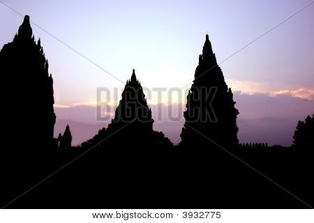 Temples At Dusk