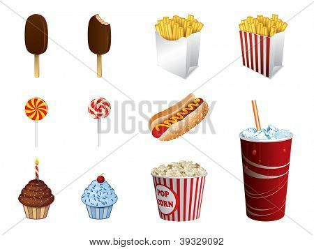 Fast food icons