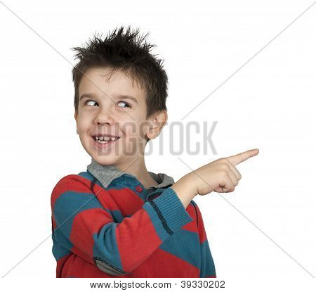 Little Boy Who Points A Finger