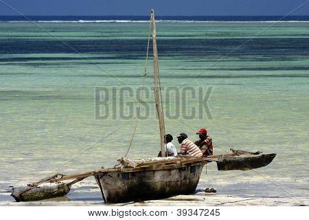 Boat In Tanzania Zanzibar