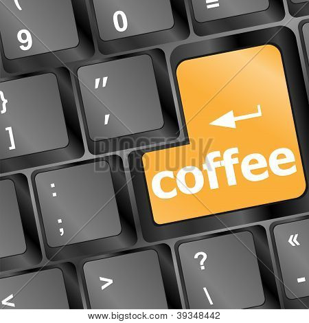 Computer Keyboard With Coffee Break Button