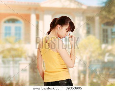 mulher em casa