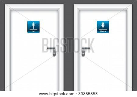 Doors With Restroom Symbols