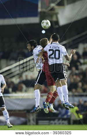 VALENCIA - NOVEMBER 20: Ricardo Costa during UEFA Champions League match between Valencia CF and FC Bayer Munchen, on November 20, 2012, in Mestalla Stadium, Valencia, Spain