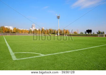 Stadium Over A Blue Sky