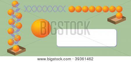 Envelope with oranges