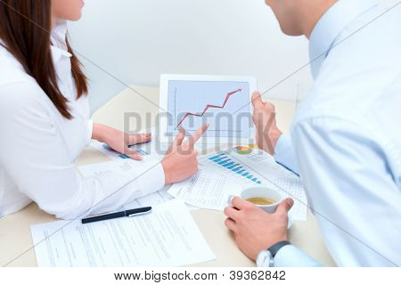 Business People Discussing About The Success Sales