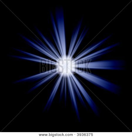 Blue Irregular Star