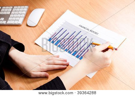 Picture Of Financial Graphs Analysis