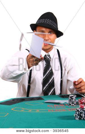 Poker Cards Flying