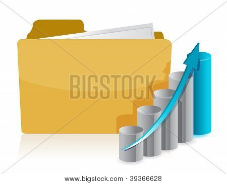 Business Graph Paperwork Folder
