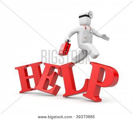 Sanitäter eilt zu Hilfe