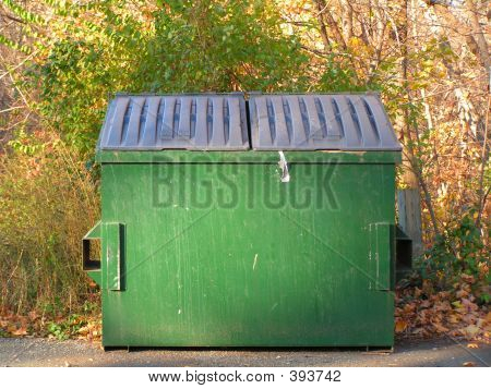 Green Trash Dumpster
