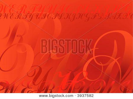 Letras de Absract vermelho