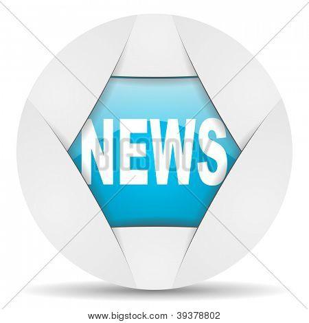 news round blue web icon on white background