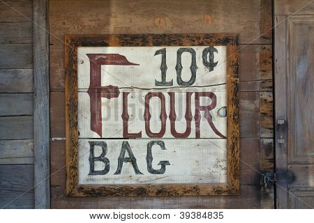 Old Flour Mercantile sign