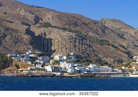 Sfakia port at Crete island, Greece
