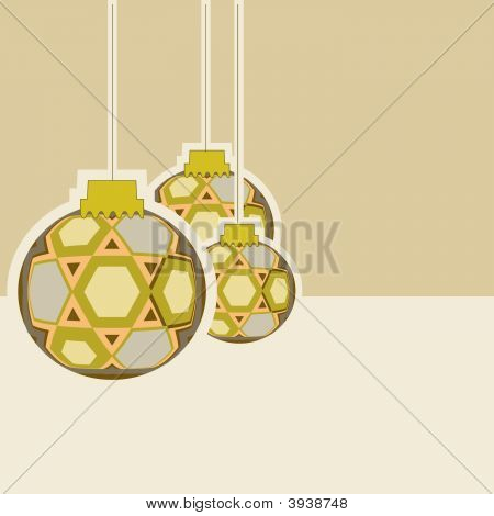 Vector Holiday Christmas Ornaments