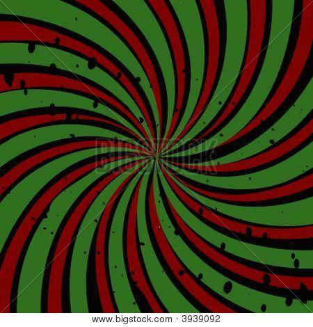 Red Green Swirl Grunge