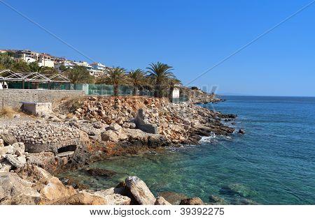 Seitia beach and city at Crete island