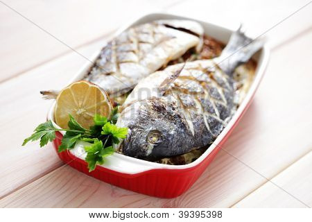 fresh dorada fish - food and drink