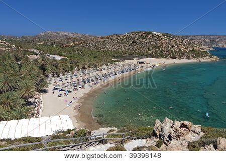 Vai beach at Crete island in Greece