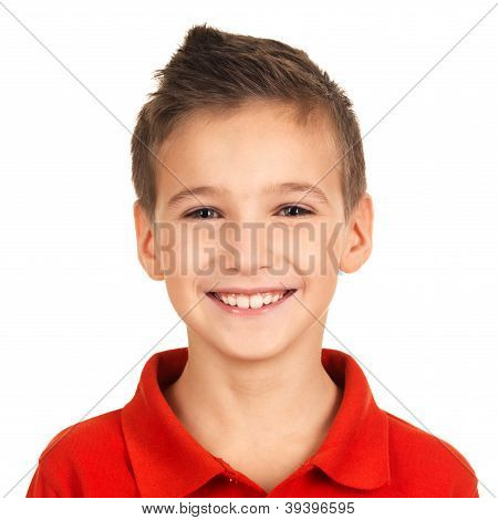 Portrait Of Adorable Young Happy Boy