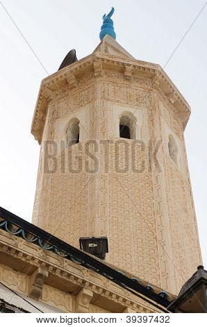 Minaret of the great mosque of Sousse in Tunisia
