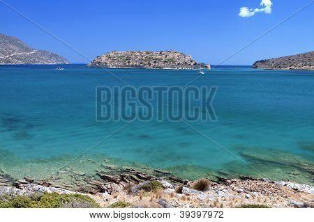 Spinalonga fortress, Crete island, Greece