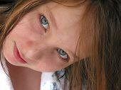 Girl Portrait Wet Hair poster