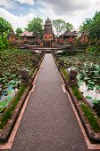 stock photo of saraswati  - Pura Taman Kemuda Saraswati temple Ubud Bali Indonesia - JPG