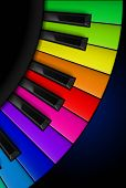 pic of rainbow piano  - Rainbow Piano keys - JPG