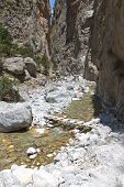picture of samaria  - Samaria gorge at Crete island in Greece - JPG