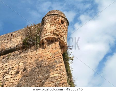 Tower And Walls Of Ancient Fortress Rethimnon Fortezza