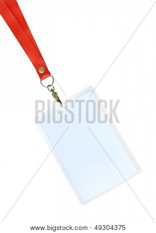 Blank ID card / badge with copy space