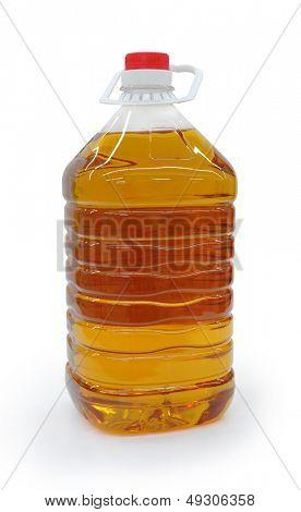 Botella plástica de aceite de maní,