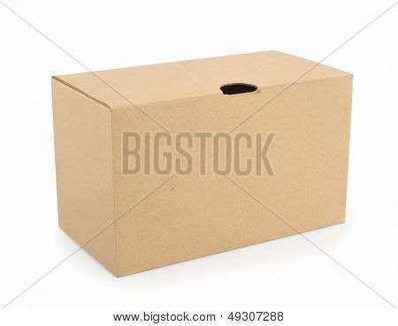 Box isolated in white background