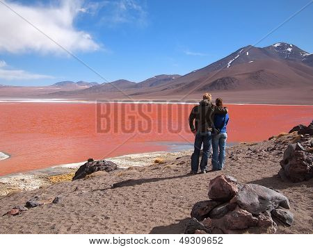 Tourists At The Red Lagoon
