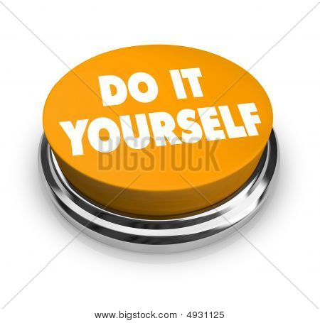 Do It Yourself - Orange Button