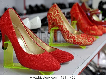 Shoe store sell high-heeled shoes