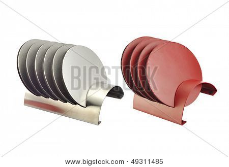 Tablemat in white background
