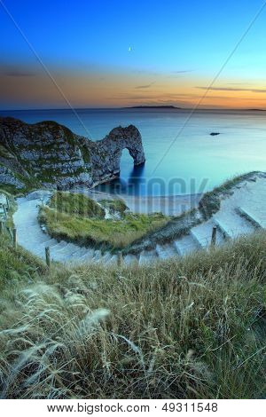 Steps to Durdle Door