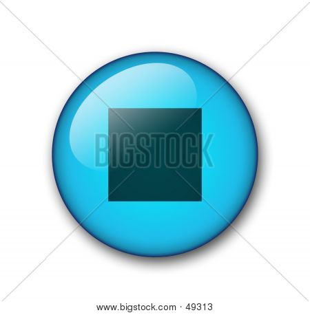 Aqua Web Button poster