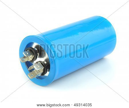 Capacitor isolated on the white background