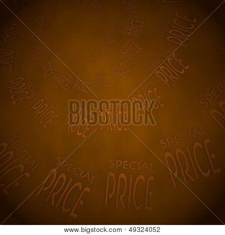 Special Price Label  On Vintage Background