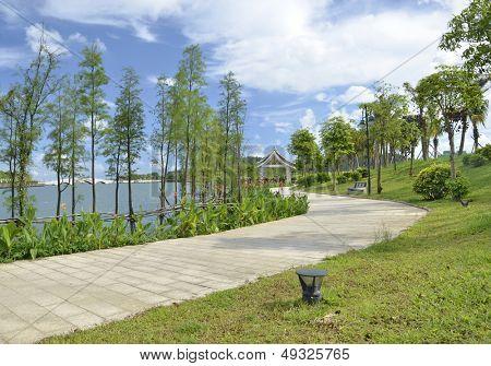 Park riparian landscape